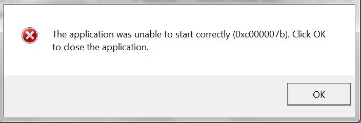 Reparatie 0xc00007b fout