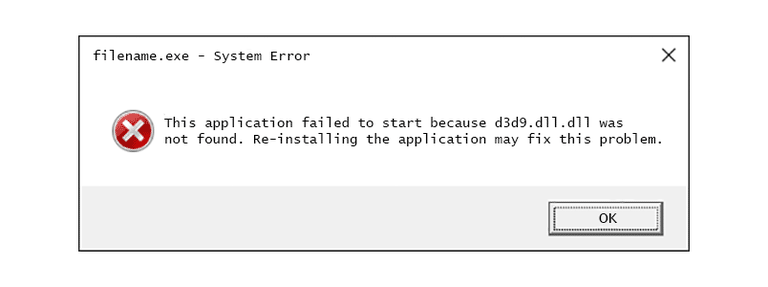 verwijder d3d9.dll ontbreekt fout