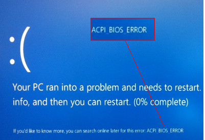 ACPI_BIOS_ERROR in Windows 10