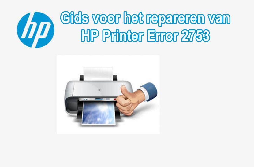 solve Error 2753 HP Printer Error