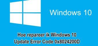 [Opgelost] Hoe repareer ik Windows 10 Update Error Code 0x8024200D?
