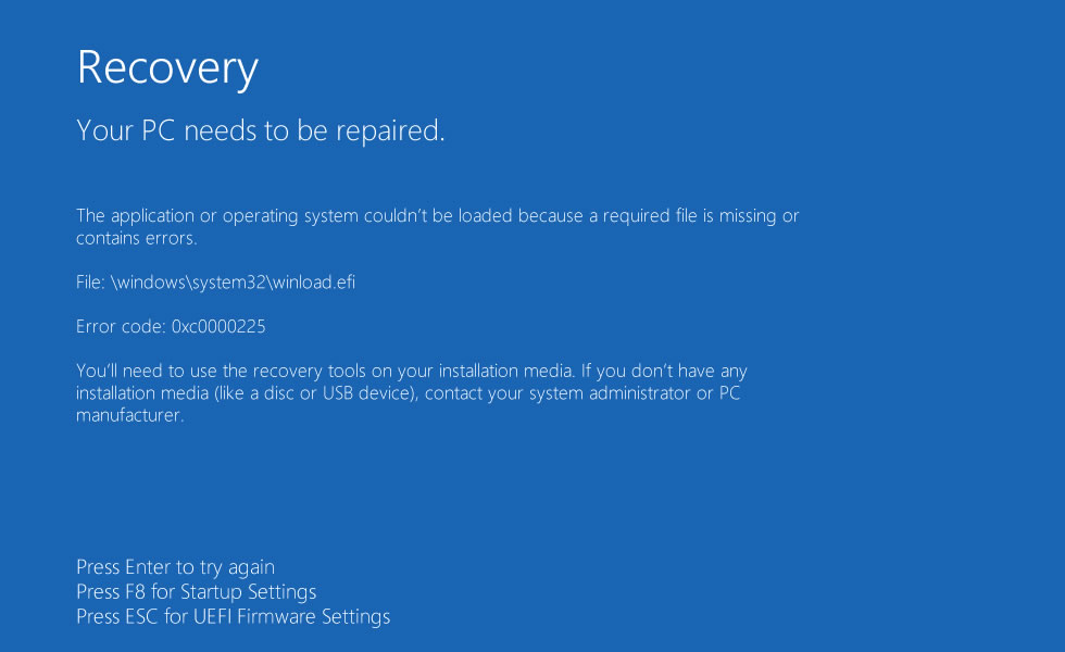 windows system32 error