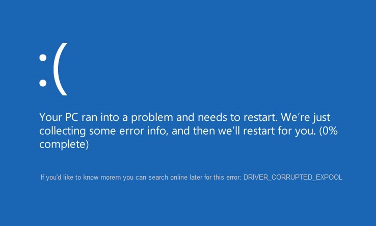 reparatie DRIVER_CORRUPTED_EXPOOL Fout in Windows 10