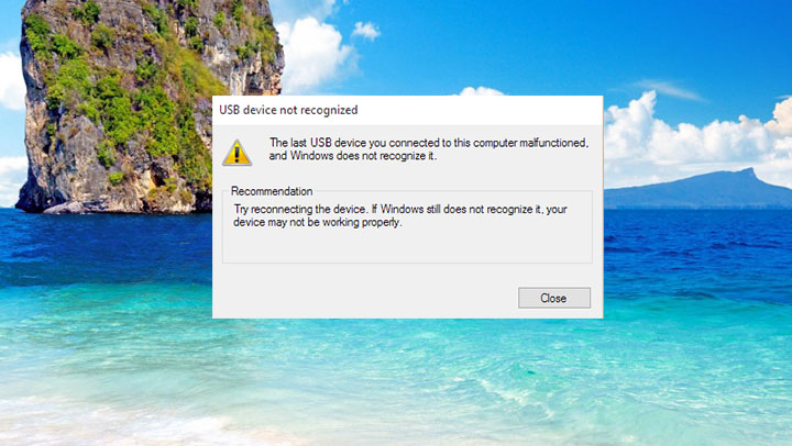 herstel USB \ DEVICE_DESCRIPTOR_FAILURE Fout in Windows 10