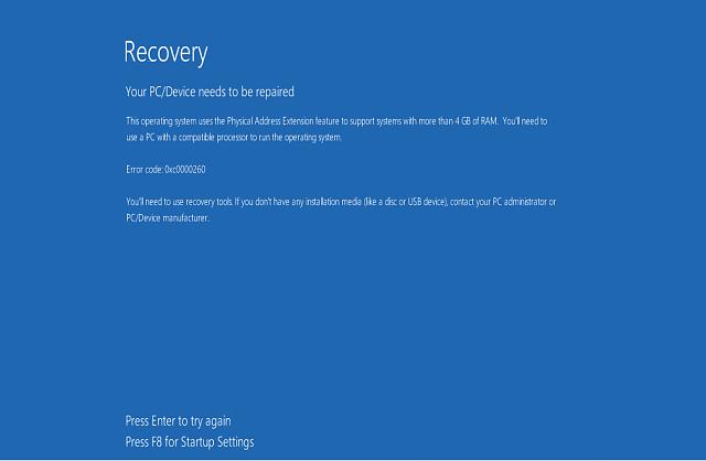 reparatie 'Boot configuratie gegevensbestand ontbreekt ' Fout in Windows 10