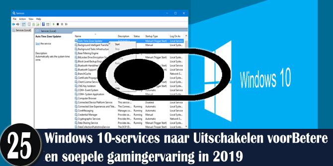 Uitschakelen van Windows 10-services